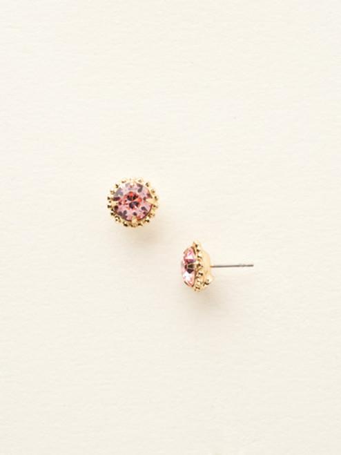 Sorrelli Essentials Light Rose Crystal Earrings EBY38BGLTR