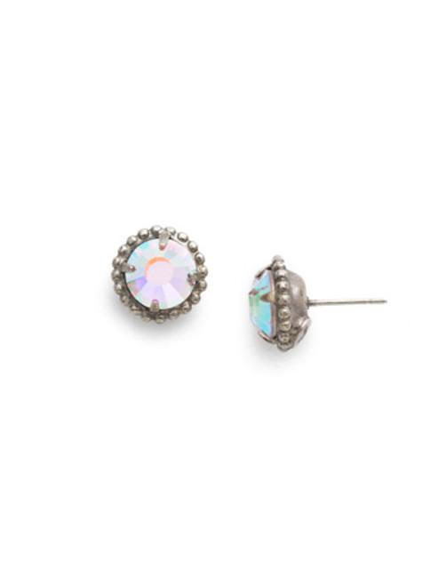 Sorrelli Crystal Aurora Borealis- Simplicity Crystal Stud Earrings~ EBY38ASCAB