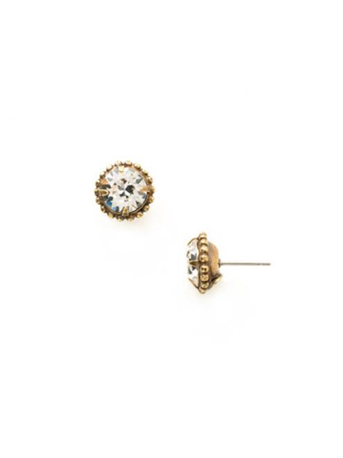 Sorrelli Essentials CRYSTAL- Simplicity Crystal Stud Earrings~ EBY38AGCRY