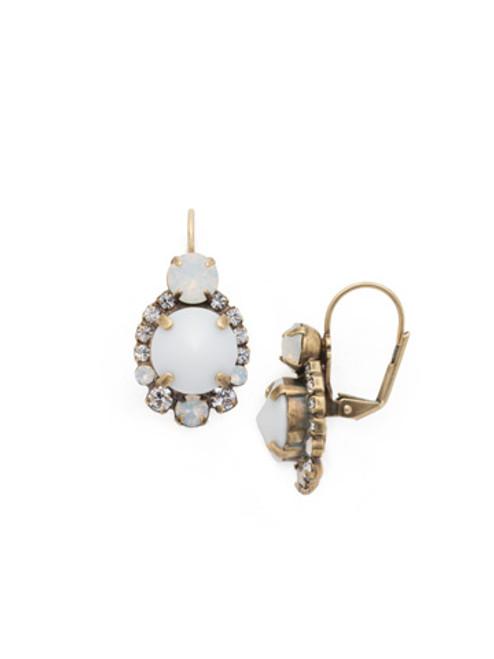 **SPECIAL ORDER**PEARL LUSTER Crystal Earrings by Sorrelli~ECQ27AGPLU