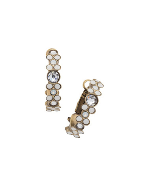 Sorrelli Pearl Luster Crystal Earrings