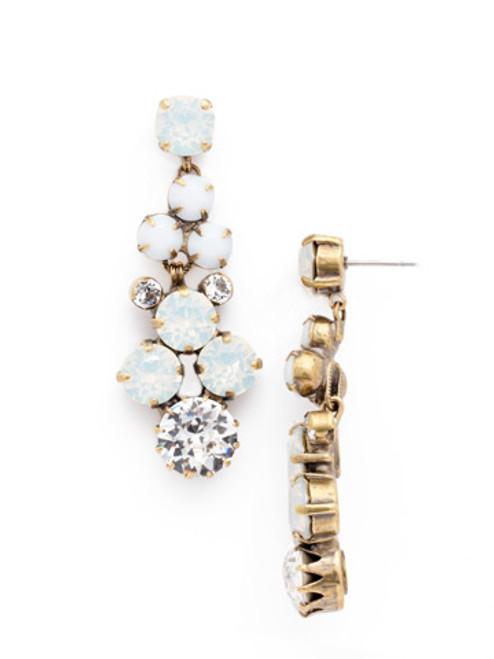 **SPECIAL ORDER**PEARL LUSTER Crystal Earrings by Sorrelli~EDH27AGPLU