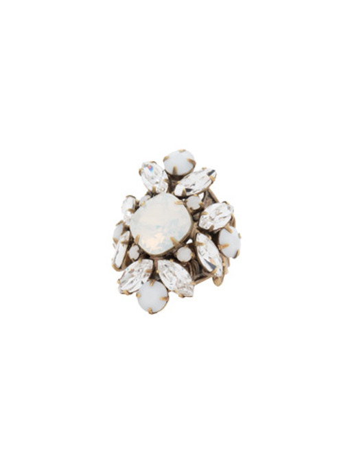 Sorrelli Pearl Luster Crystal Ring