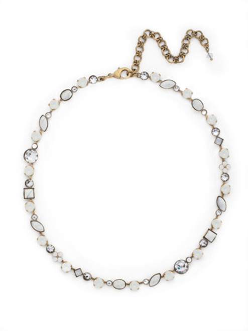 Pearl Luster Crystal Necklace