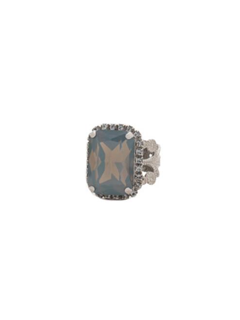 Sorrelli Gold Vermeil Petite Emerald-Cut Swarovski Crystal Cocktail Ring~ RCF9ASGV
