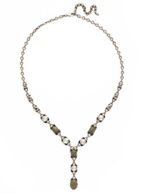 Sorrelli Gold Vermeil Eyelet Y Crystal Necklace~ NDH18ASGV