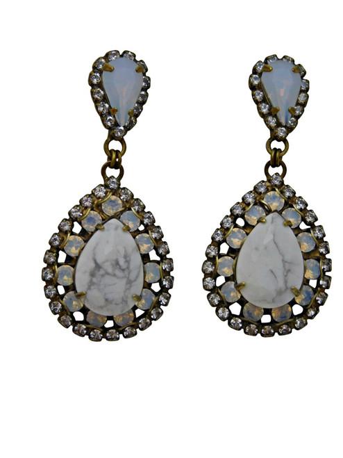 PEARL LUSTER Crystal Earrings by Sorrelli~ECW47AGPLU