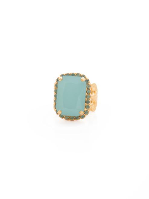 SORRELLI~ Pacific Opal- Petite Emerald-Cut Cocktail Ring~ RCF9BGPAC