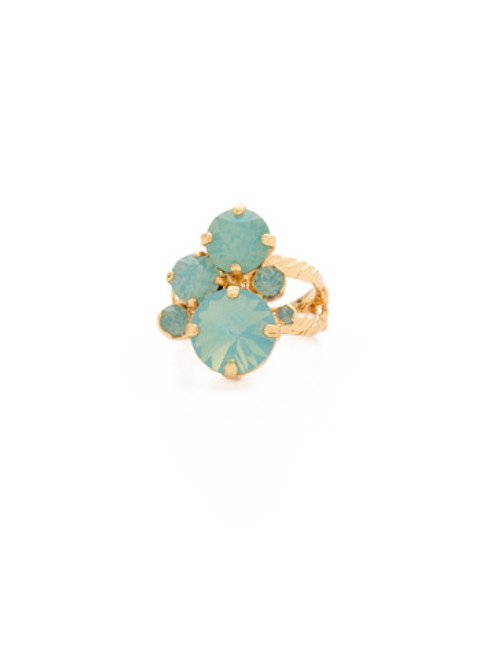 Sorrelli- Pacific Opal- Crystal Assorted Rounds Ring~ RDB11BGPAC