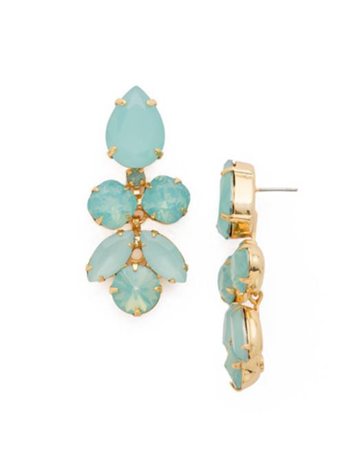 SORRELLI~ Pacific Opal- Crystal Lotus Flower Dangle Earrings~ ECR1BGPAC