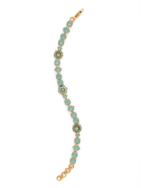 SORRELLI Pacific Opal Classic Floral Crystal Tennis Bracelet~ BBE2BGPAC