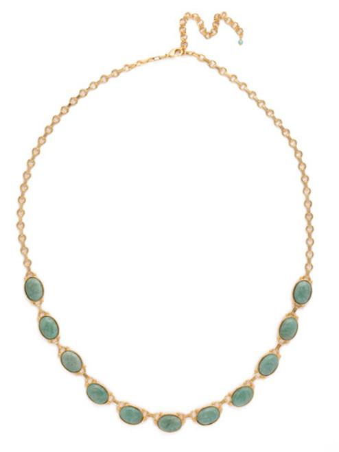 SORRELLI Pacific Opal- Large Eyelet Semi-Precious Long Strand Necklace~ NDJ1BGPAC