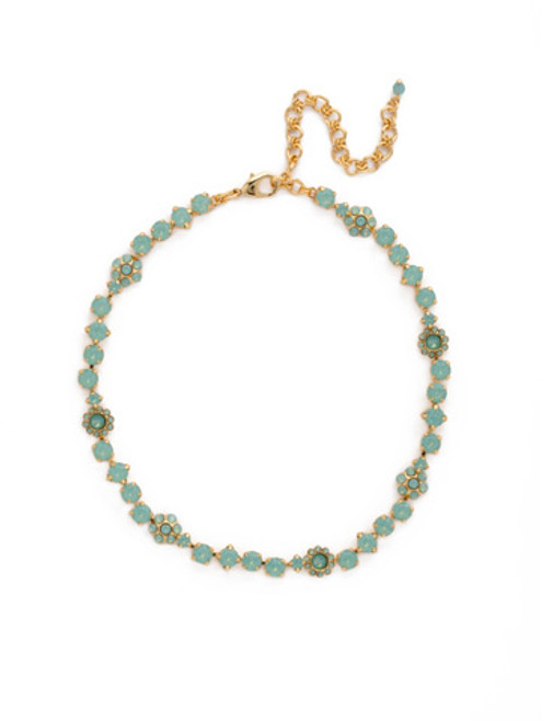SORRELLI Pacific Opal- Classic Floral Crystal Tennis Necklace~ NBE2BGPAC