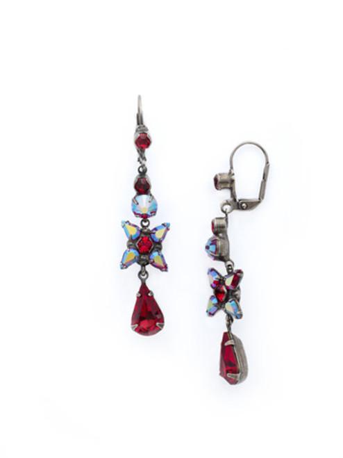 CRANBERRY Crystal Earrings by Sorrelli ECR30ASCB