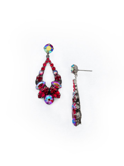CRANBERRY Crystal Earrings by Sorrelli EDA53ASCB
