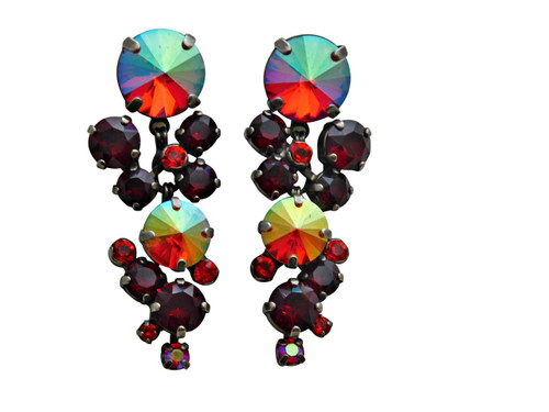 CRANBERRY Crystal Earrings by Sorrelli ECW10ASCB