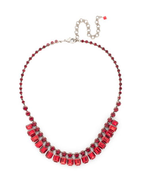 *Special Order* CRANBERRY Crystal Necklace by Sorrelli~NCW7ASCB