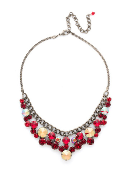 CRANBERRY Crystal Necklace by Sorrelli NCW10ASCB