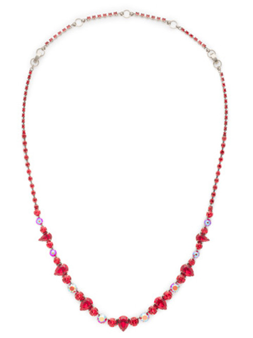 CRANBERRY Crystal Necklace by Sorrelli NCR19ASCB