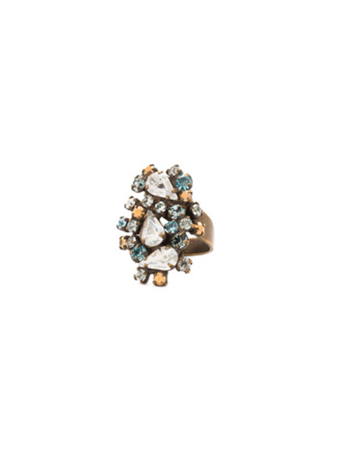 Sorrelli Afterglow- Classically Clustered Ring~ RCP7AGAFG