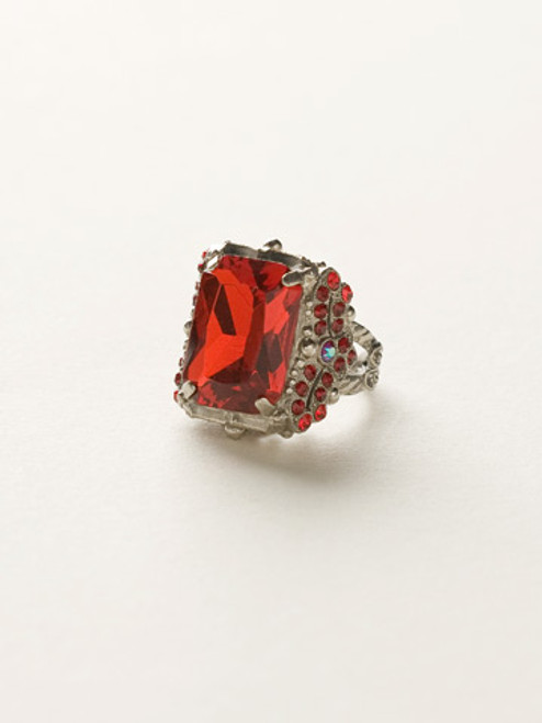 *Special Order* CRANBERRY  CRYSTAL RING by Sorrelli~RCK2ASCB