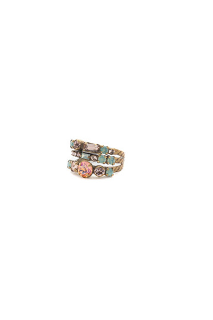 Sorrelli APRICOT AGATE-Triple Threat Stacked Ring~RDK23AGAP