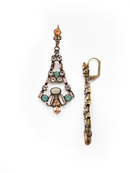 SORRELLI~APRICOT AGATE- Ornate Eiffel Statement Earrings~ EDK59AGAP