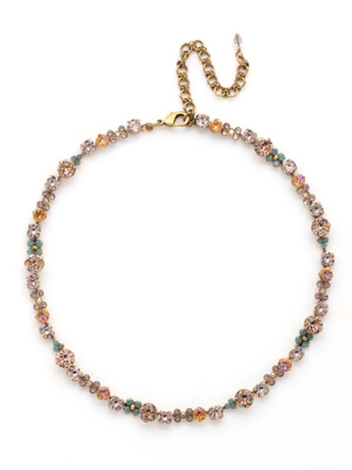 SORRELLI~APRICOT AGATE-In Bloom Line Necklace~ NDK10AGAP