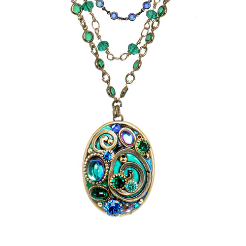 MICHAL GOLAN EMERALD COLLECTION NECKLACE
