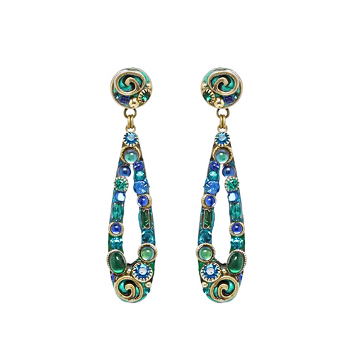 Michal Golan Emerald Collection Earrings~S8070