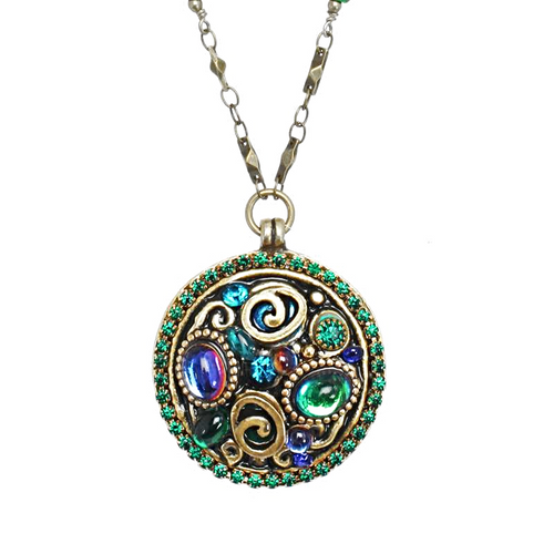 Michal Golan Emerald Collection Necklace~N3721