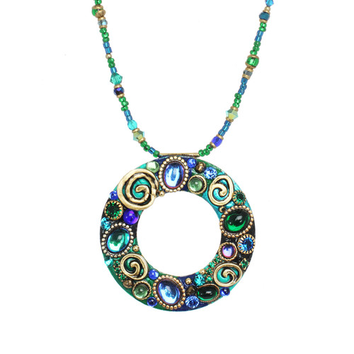 Delicate green and blue NECKLACE