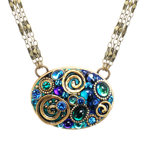 Michal Golan Emerald Collection Necklace~N3728