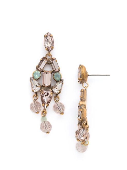 SORRELLI APRICOT AGATE- Crystal Earrings~ EDK74AGAP