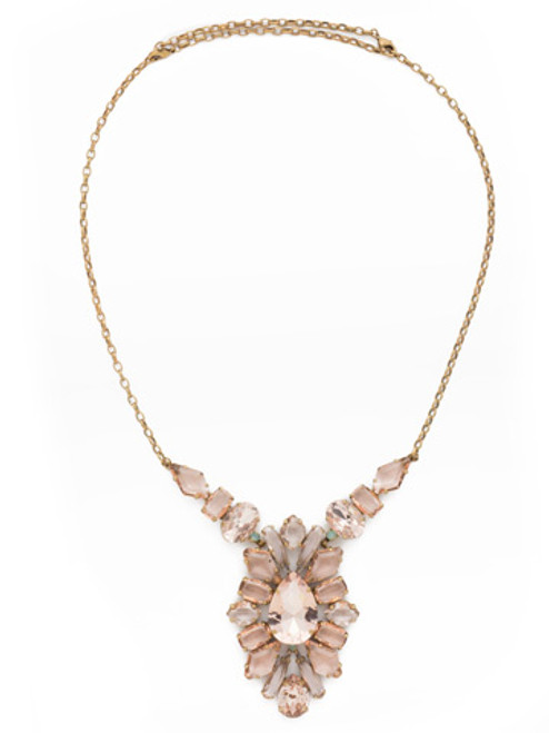 SORRELLI~APRICOT AGATE Crystal Necklace~ NDK65AGAP