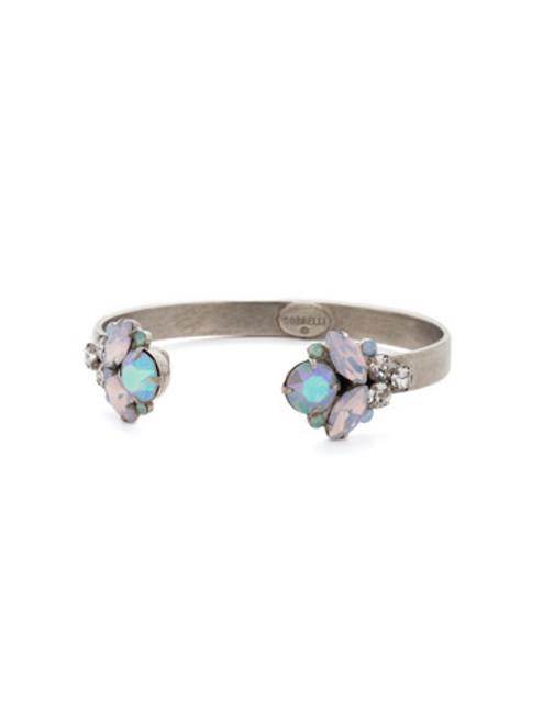 Sorrelli RAINBOW QUARTZ Crystal Cuff Bracelet bcw17asrq
