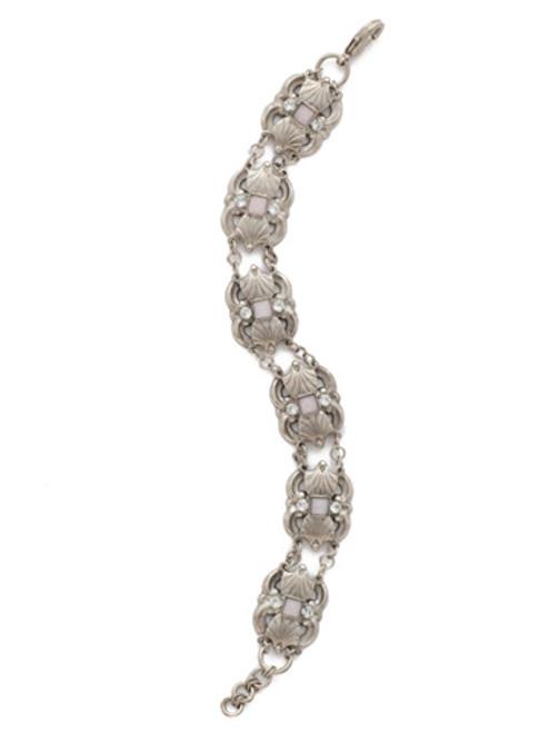 Antique Silver Crystal Bracelet