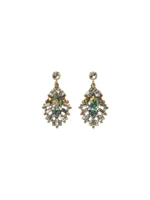 Sorrelli Afterglow- Multi-Cut Crystal Statement Earrings~ ECR54AGAFG
