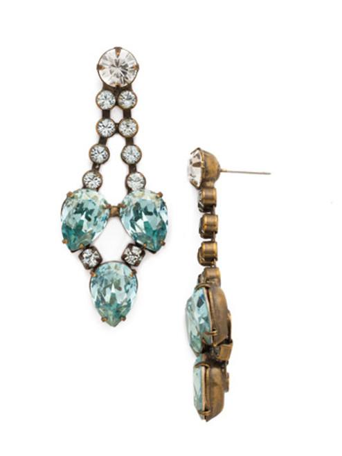 Sorrelli Afterglow- Teardrop Crystal Pendulum Earrings~ ECR55AGAFG