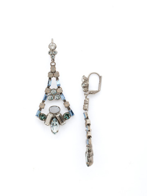 Sorrelli PEBBLE BLUE Crystal Earrings edk59aspeb