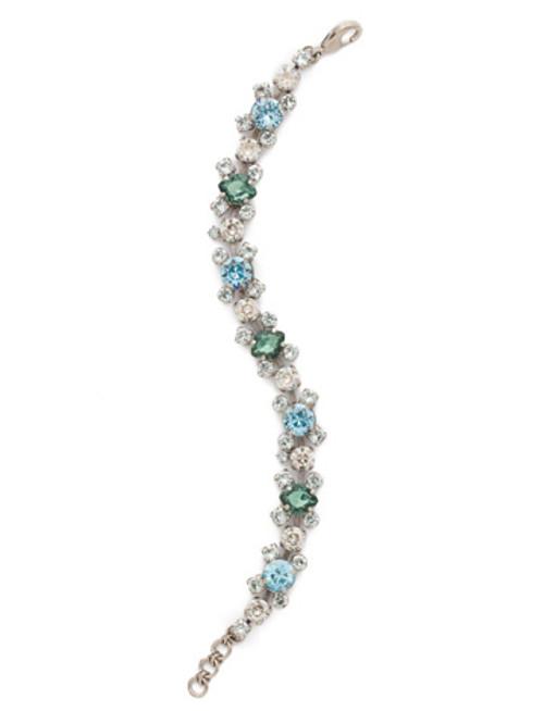 Sorrelli PEBBLE BLUE Crystal Bracelet bdk11aspeb