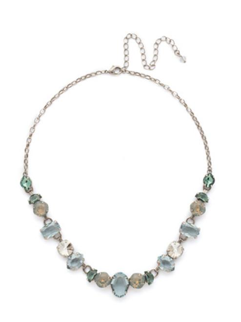 SORRELLI PEBBLE BLUE Crystal Necklace NDK32ASPEB