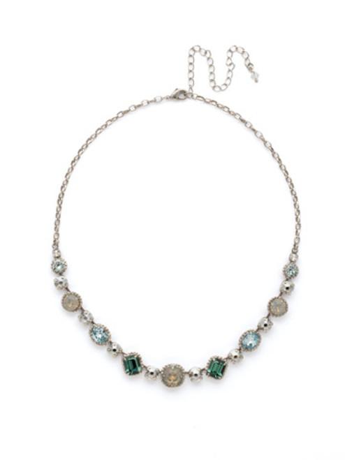 SORRELLI PEBBLE BLUE Crystal Necklace NDK14ASPEB