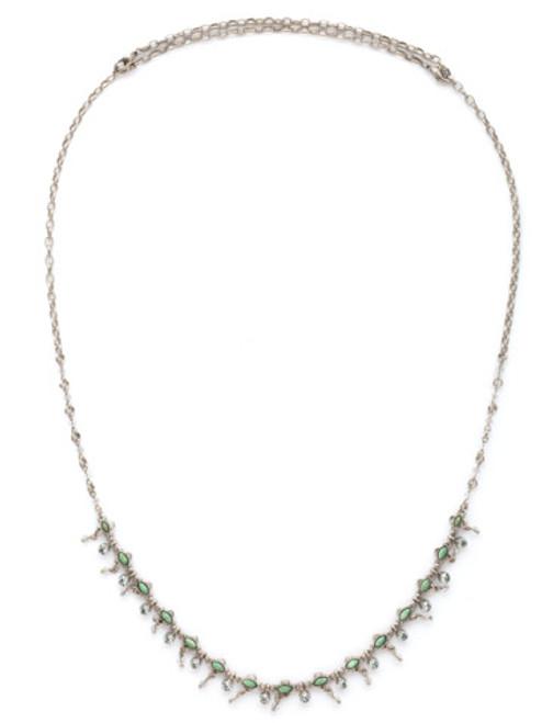 SORRELLI PEBBLE BLUE Crystal Necklace NDK27ASPEB