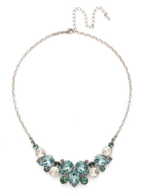 SORRELLI PEBBLE BLUE Crystal Necklace NDJ14ASPEB