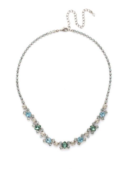 SORRELLI PEBBLE BLUE Crystal Necklace NDK11ASPEB