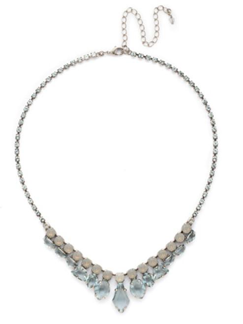 SORRELLI PEBBLE BLUE Crystal Necklace NDK35ASPEB