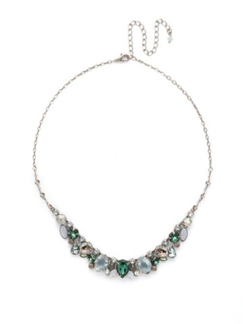 SORRELLI PEBBLE BLUE Crystal Necklace NDK15ASPEB