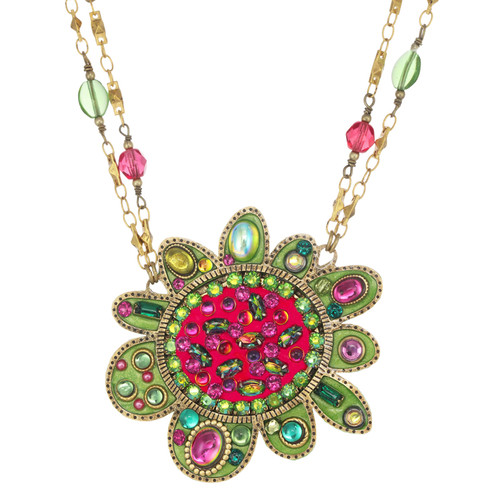 Golan Abstact Flower Necklace