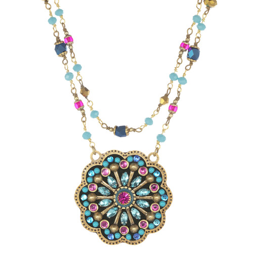 Golan Blue Flower Necklace